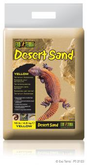 Exo Terra DESERT SAND / FÜR WÜSTENTERRARIEN GELB