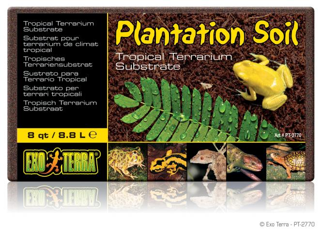 Exo Terra  Plantation Soil  Brick, tropisches Terrariensubstrat