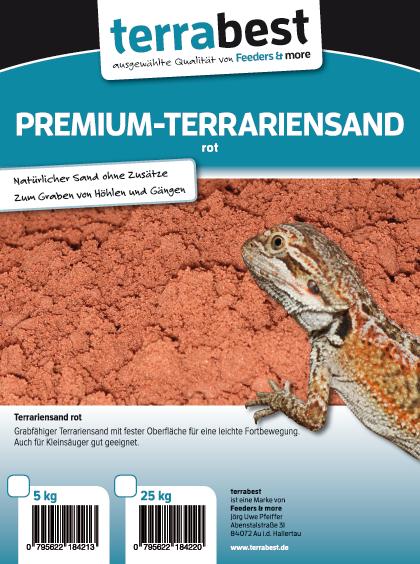 Premium Terrariensand - Rot 25kg