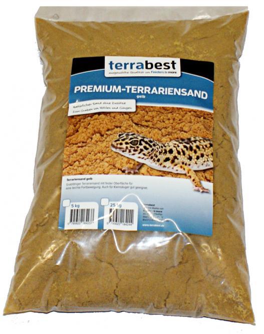 Premium Terrariensand - Gelb 25kg